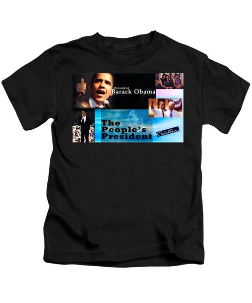 The People's President Still Kids T-Shirt by Terry Wallace