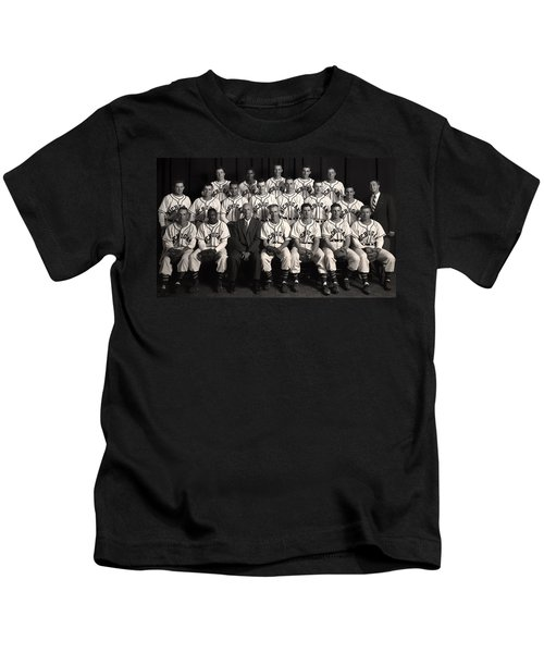 University Of Michigan - 1953 College Baseball National Champion Kids T-Shirt by Mountain Dreams