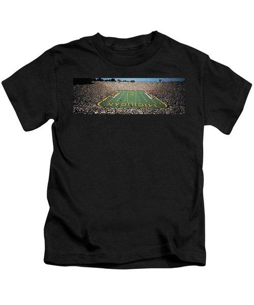 University Of Michigan Stadium, Ann Kids T-Shirt by Panoramic Images