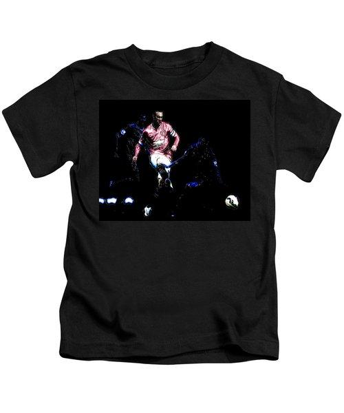 Wayne Rooney Working Magic Kids T-Shirt by Brian Reaves
