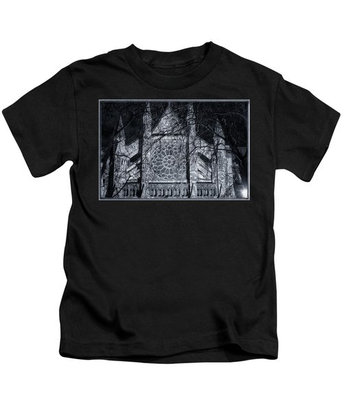 Westminster Abbey North Transept Kids T-Shirt by Joan Carroll