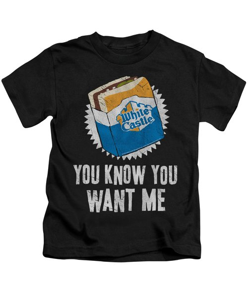 White Castle - Want Me Kids T-Shirt by Brand A