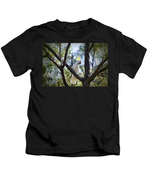 Sulphur Crested Cockatoo Kids T-Shirt by Douglas Barnard
