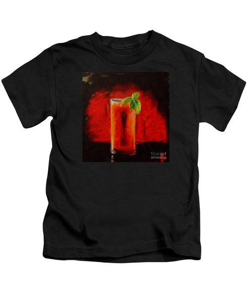 Bloody Mary Coctail Kids T-Shirt by Dragica  Micki Fortuna