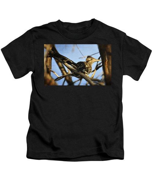 Roadrunner Up A Tree Kids T-Shirt by Saija  Lehtonen