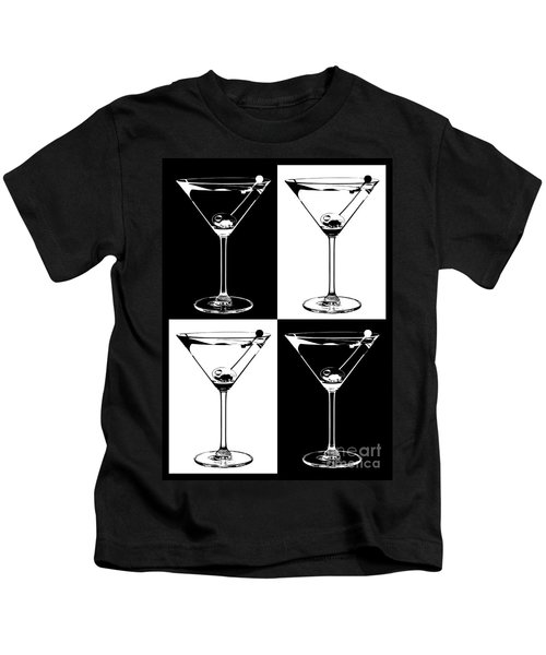 Classic Martini  Kids T-Shirt by Jon Neidert