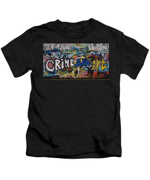 Grafitti On The U2 Wall, Windmill Lane Kids T-Shirt by Panoramic Images