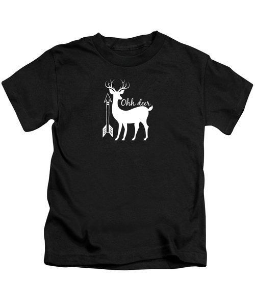 Ohh Deer Kids T-Shirt by Chastity Hoff