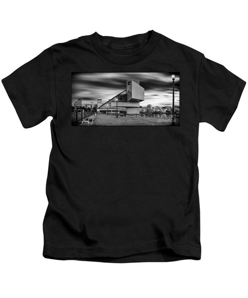Rock And Roll Hall Of Fame  Kids T-Shirt by James Dean