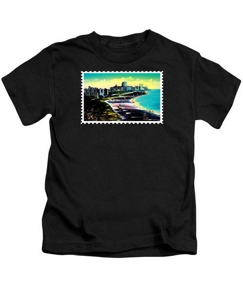 Surreal Colors Of Miami Beach Florida Kids T-Shirt by Elaine Plesser