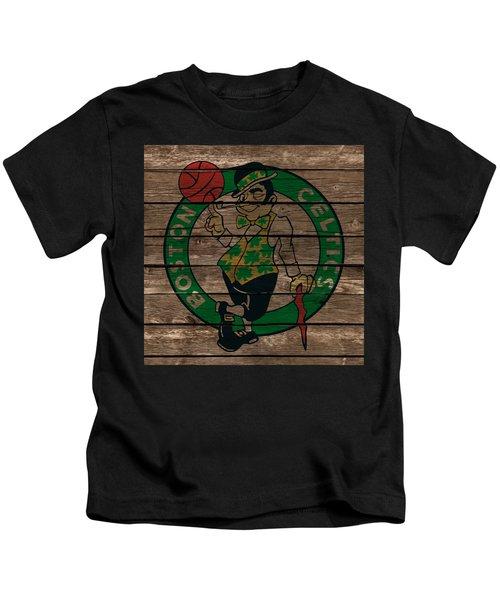 The Boston Celtics 1e Kids T-Shirt by Brian Reaves