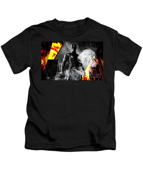 Daredevil Collection Kids T-Shirt by Marvin Blaine