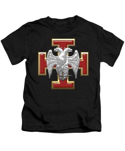 30th Degree Mason - Knight Kadosh Masonic Jewel  Kids T-Shirt by Serge Averbukh