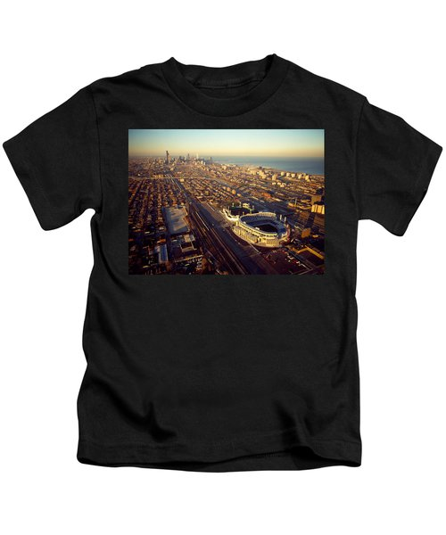 Aerial View Of A City, Old Comiskey Kids T-Shirt by Panoramic Images
