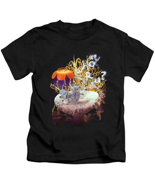 Alice N The Hookah Caterpillar Kids T-Shirt by Methune Hively