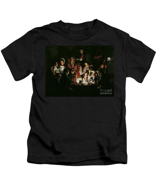 An Experiment On A Bird In The Air Pump Kids T-Shirt by Joseph Wright of Derby