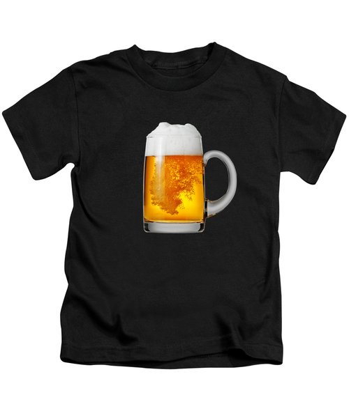 Glass Of Beer Kids T-Shirt by T Shirts R Us -