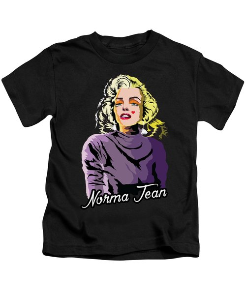 The Timeless Norma Jean Kids T-Shirt by Anthony Mwangi