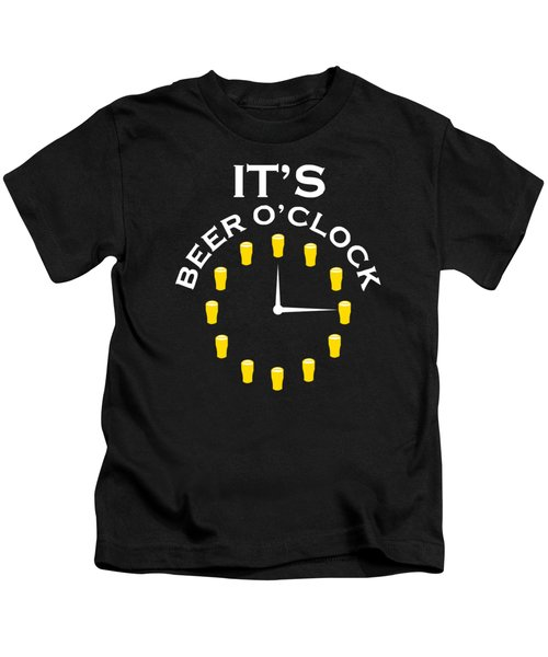 Beer O Clock Kids T-Shirt by Rully Sachrul