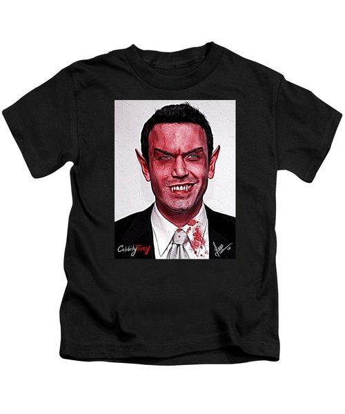 Ben Affleck Kids T-Shirt by Gene Spino