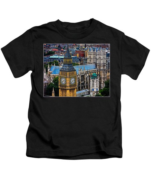 Big Ben And Westminster Abbey Kids T-Shirt by Chris Lord