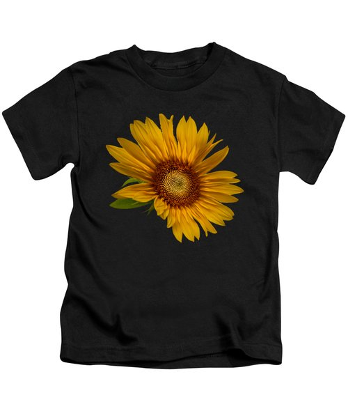 Big Sunflower Kids T-Shirt by Debra and Dave Vanderlaan