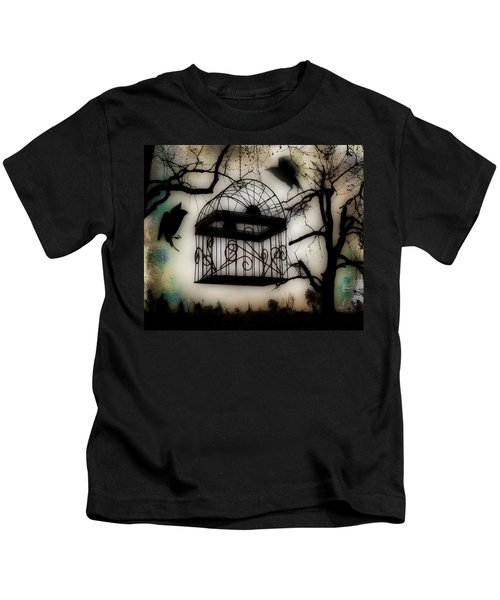 Birdcage Kids T-Shirt by Gothicolors Donna