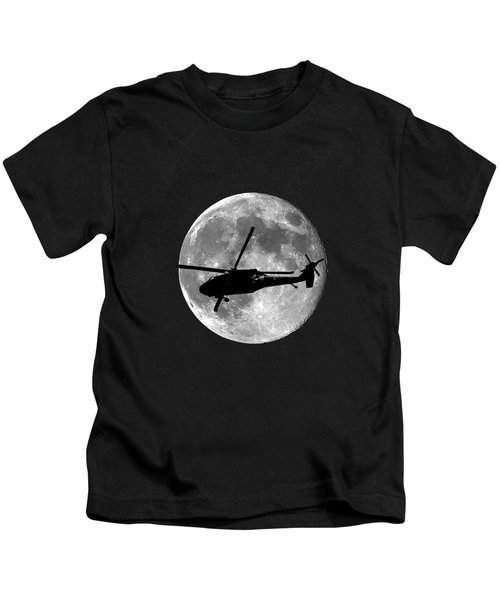 Black Hawk Moon .png Kids T-Shirt by Al Powell Photography USA