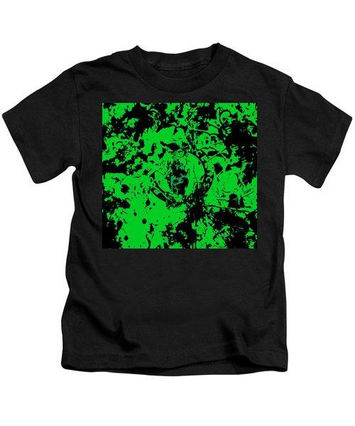 Boston Celtics 1c Kids T-Shirt by Brian Reaves