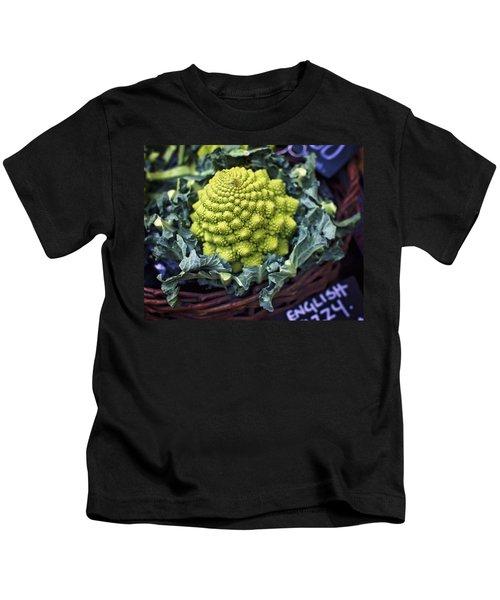 Brassica Oleracea Kids T-Shirt by Heather Applegate