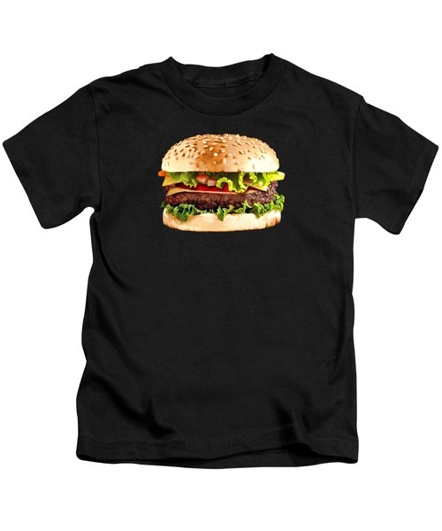 Burger Sndwich Hamburger Kids T-Shirt by T Shirts R Us -