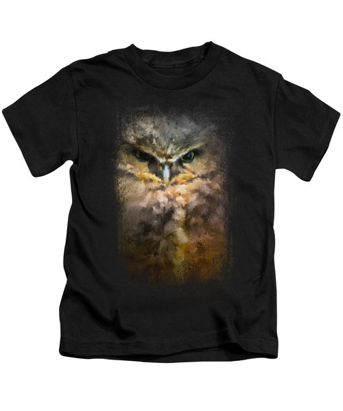 Burrowing Owl Kids T-Shirt by Jai Johnson
