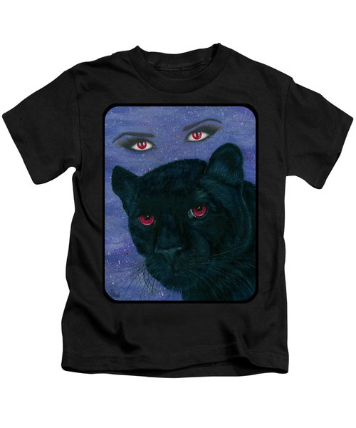 Carmilla - Black Panther Vampire Kids T-Shirt by Carrie Hawks