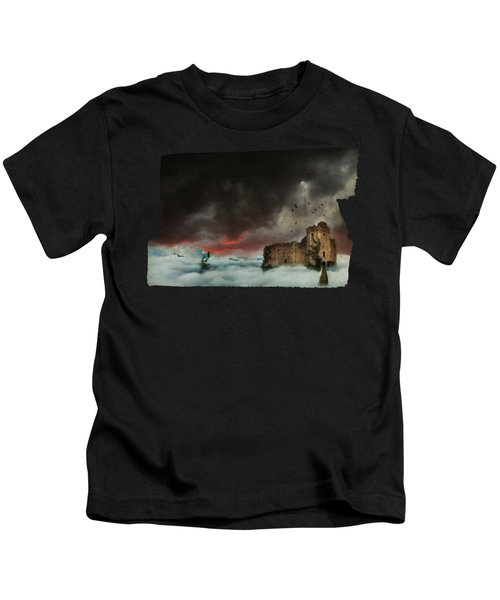 Castle In The Clouds Kids T-Shirt by Terry Fleckney