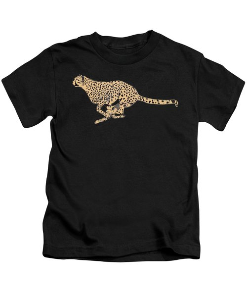 Cheetah Flash Kids T-Shirt by Teresa  Peterson