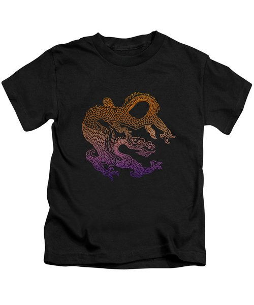 Chinese Dragon Kids T-Shirt by Illustratorial Pulse