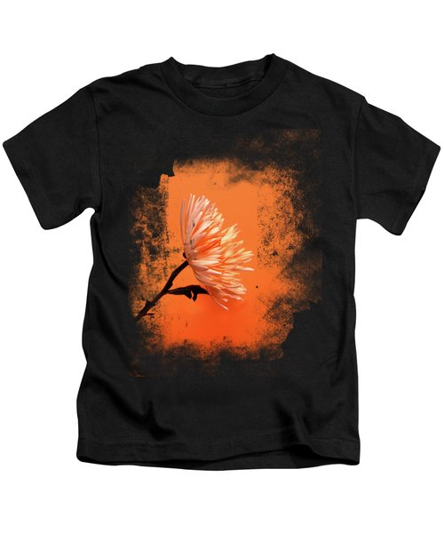 Chrysanthemum Orange Kids T-Shirt by Mark Rogan