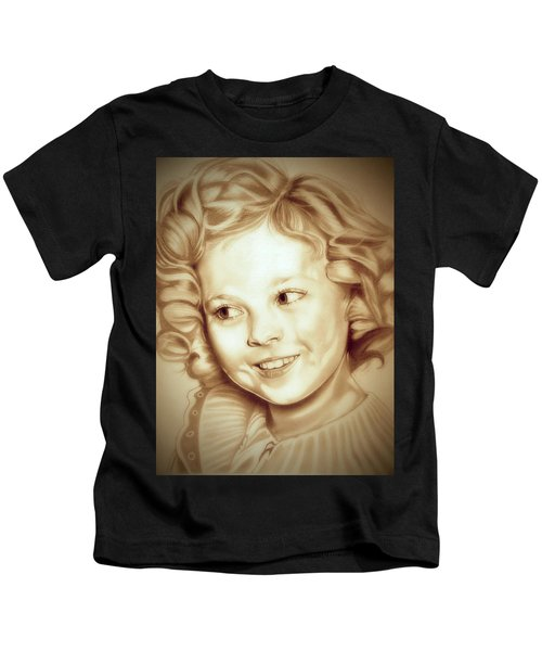 Classic Shirley Temple Kids T-Shirt by Fred Larucci