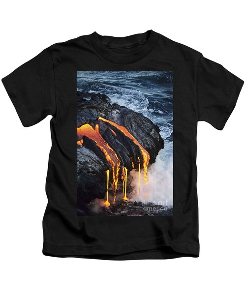 Close-up Lava Kids T-Shirt by Don King - Printscapes