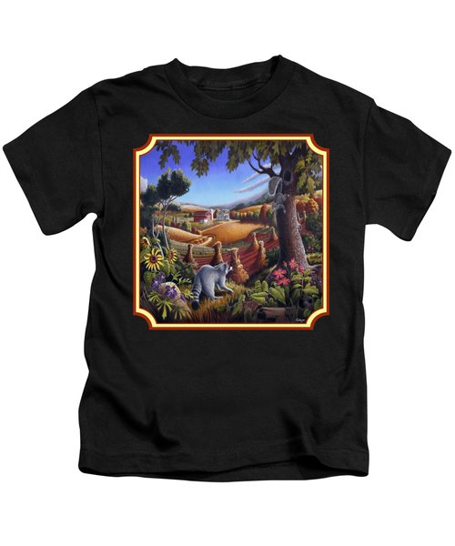 Coon Gap Holler Country Landscape - Square Format Kids T-Shirt by Walt Curlee