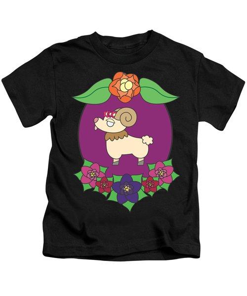 Cute Goat Kids T-Shirt by Jadrien Douglas