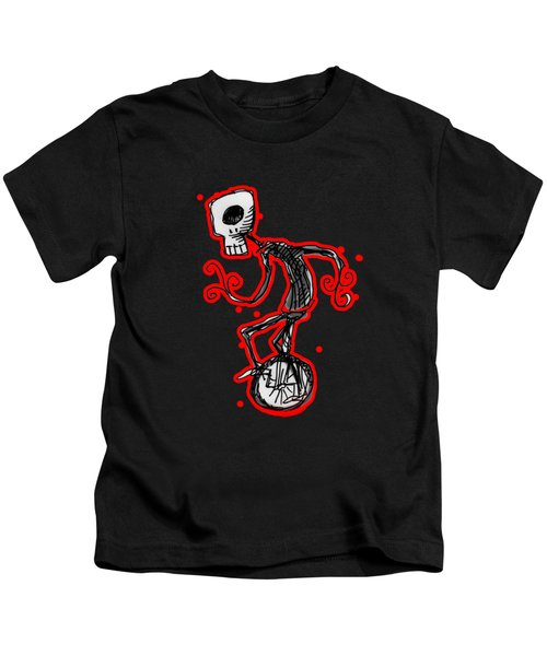 Cyclops On A Unicycle Kids T-Shirt by Matt Mawson