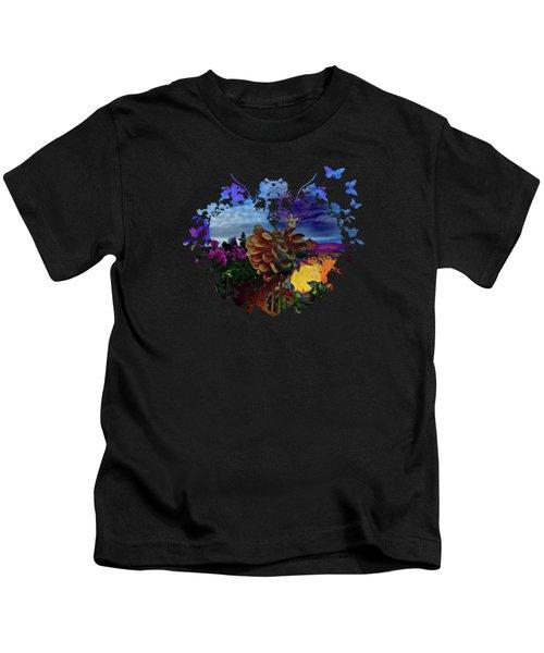 Dahlia Field Kids T-Shirt by Thom Zehrfeld