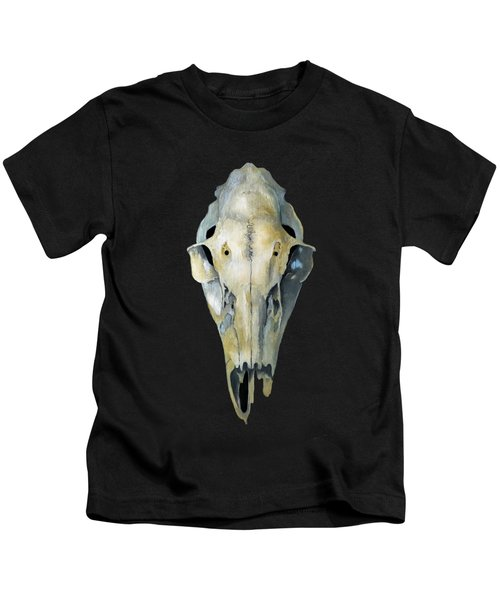 Deer Skull Aura Kids T-Shirt by Catherine Twomey