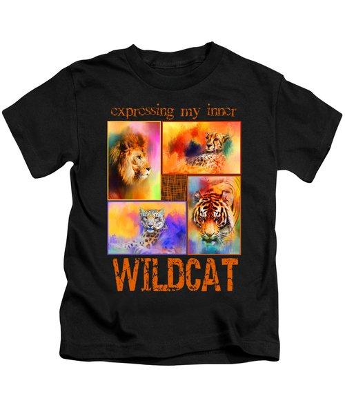 Expressing My Inner Wildcat Kids T-Shirt by Jai Johnson