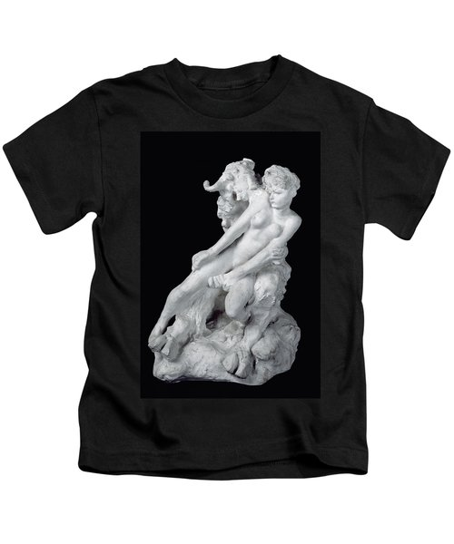 Faun And Nymph Kids T-Shirt by Auguste Rodin