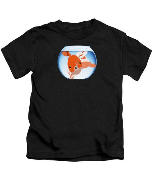 Fishbowl Kids T-Shirt by Priscilla Wolfe