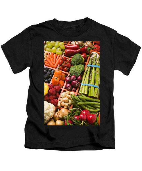 Food Compartments  Kids T-Shirt by Garry Gay