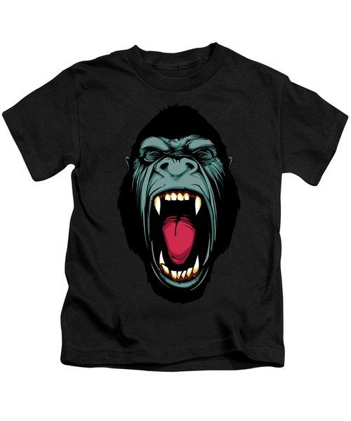 Gorilla Face Kids T-Shirt by John D'Amelio