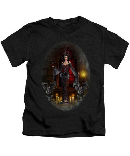 Gothic Queen Kids T-Shirt by Ali Oppy
